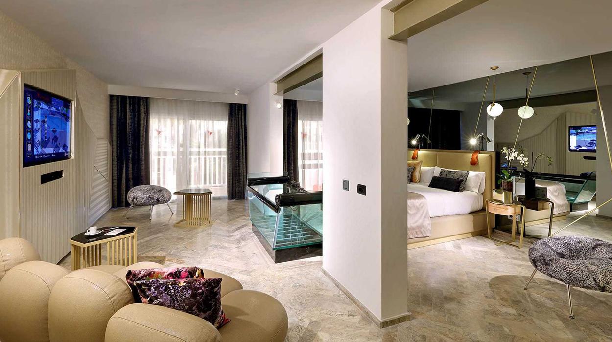LG equipó las habitaciones del hotel The Ushuaïa Tower de Ibiza